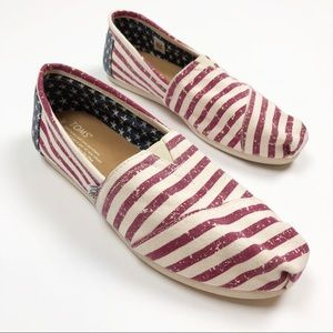 Toms   American Flag Slip On Shoes